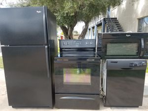 Whirlpool Black Kitchen Set * Can Deliver * Works Great for Sale in Glendale, AZ