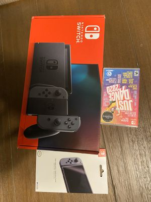 Nintendo switch v2. With new just dance game for Sale in Fowler, CA
