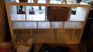 White shelving unit. Bookcase display shelf for Sale in Santee, CA