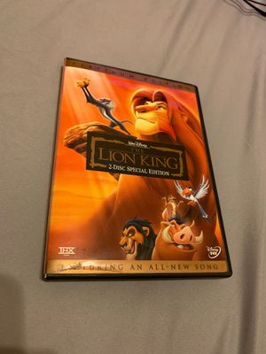 The lion King Full movie , 2 disc special edition for Sale in Orlando, FL