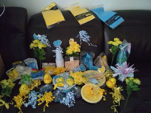 Baby boy baby shower décor $45 Firm for Sale in Las Vegas, NV
