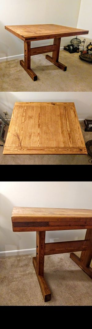 Solid Wood Trestle Table for Sale in Durham, NC