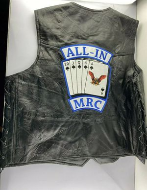 Man's Motorcycle Vest Waistcoat Genuine Hog Leather by Rocky Ranch Hides Size 3X for Sale in Lynwood, CA