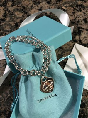 TIFFANY & CO HEART TAG DOUBLE CHAIN BRACELET **BRAND NEW for Sale in Rocky River, OH