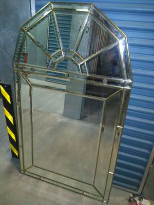 Beveled and brass large wall mirror for Sale in Richmond, VA