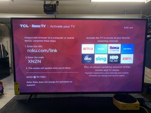 "TCL 65"" 4K HDR roku smart TV for Sale in Riverside, CA"