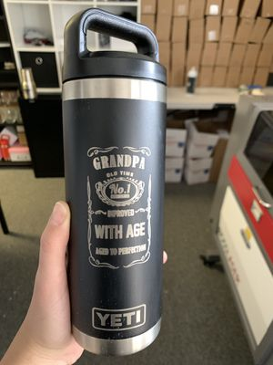 Brand new 18 oz laser engraved granpa yeti water bottle for Sale in Virginia Beach, VA