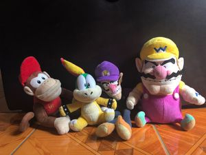 Mario plushies including: Diddy kong, Koopa, WaLuigi, and Wario! for Sale in Piscataway, NJ