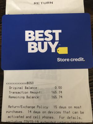 Best Buy $165 Store Credit for Sale in Lynnwood, WA