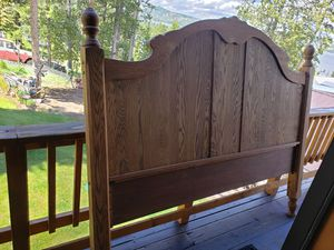 Oak king size bed frame for Sale in Anaconda, MT