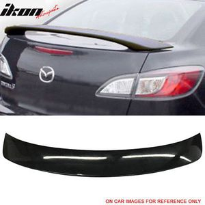 Fits 10-13 Mazda 3 4DR Sedan Factory Style Trunk Spoiler Painted #16W Black Mica for Sale in City of Industry, CA
