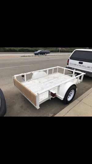 Trailer Heavy Duty Title in Hand New Plate New Tires Tilt Bed for Sale in Malibu, CA