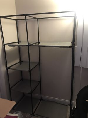 moving! plastic closet w fabric shelves for Sale in Los Angeles, CA