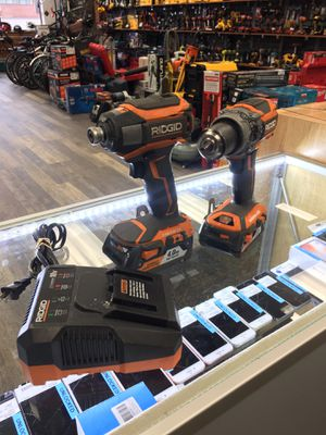 Ridgid R86116/R86037 Drill Kit w/ 2 Batteries(2.0/4.0Ah) and Charger for Sale in Lynn, MA
