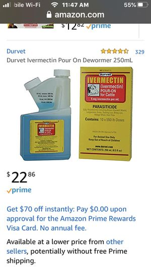 Ivermectin pour on dewormer for Sale in Phoenix, AZ