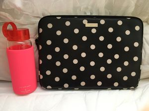 Kate Spade Glass Water Bottle & iPad/Macbook Case for Sale in Issaquah, WA