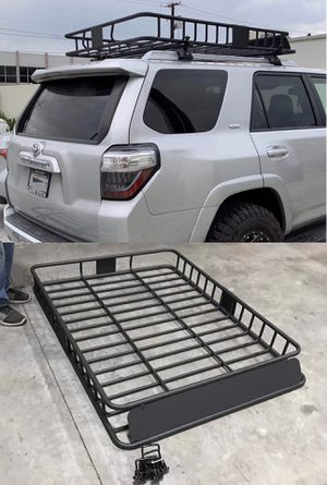 New in box XXL large 64x45x7 inches roof basket travel cargo carrier storage rack for suv car 4 mounting brackets included for Sale in Los Angeles, CA