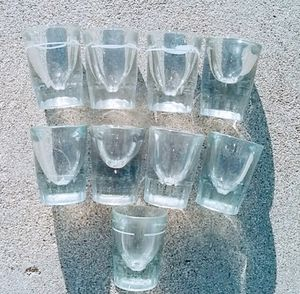 8 Shot Glasses 2 ounce in Excellent Un scratched Clean Condition, for Sale in Temple City, CA