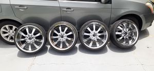 Tires size 255 _ 35 R 20 and rims 4 holes universal for Sale in Orlando, FL