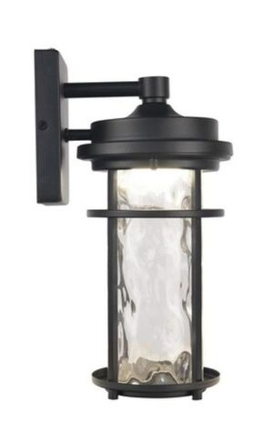Allen +Roth Clear Spring 13.5-in H Black LED Outdoor Wall Light ( New) for Sale in Cary, NC