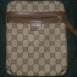 Gucci (Vintage) GG Monogram Shoulder Crossbody Bag Good condition LV supreme off for Sale in Indianapolis, IN