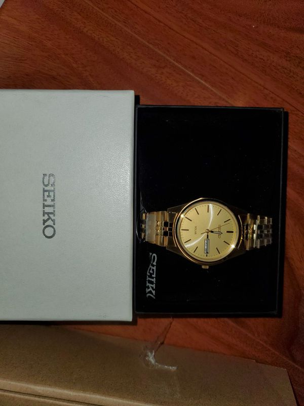 Seiko gold color watch