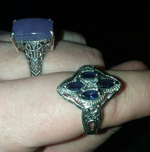 Size 9 sterling silver rings $10 each for Sale in Kirkwood, MO
