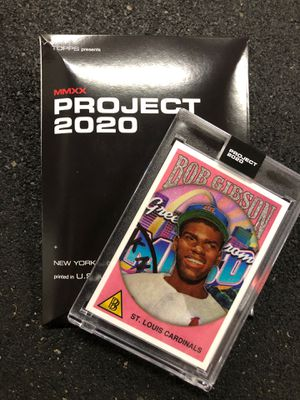 TOPPS Project 2020 Bob Gibson by Ben Baller for Sale in Rowland Heights, CA