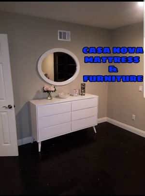 BRAND NEW DRESSER AND MIRROR COMES IN BOX for Sale in Compton, CA