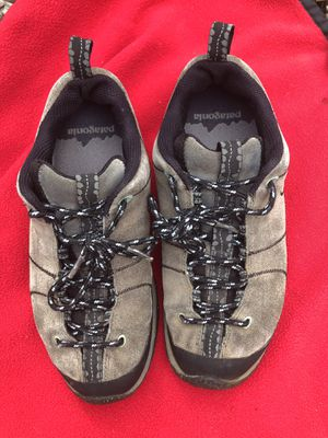 Patagonia bly force grey hiking sneaker shoes kicks vibrant soles fits women size 6 for Sale in Portland, OR
