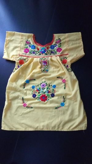 Embroidery Mexican Dress child size 4 for Sale in Anaheim, CA