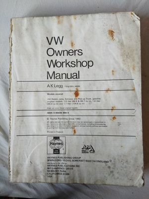 1974-1978 VW Rabbit and Scirocco Workshop Manual for Sale for sale  Lacey, WA