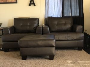 Two oversized chairs with matching ottoman. for Sale in Bend, OR