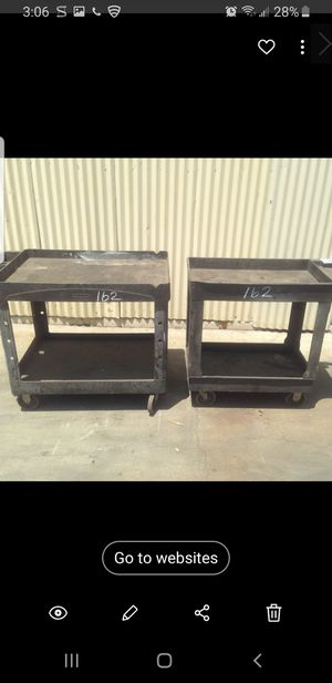 2) uline rolling shop carts tool tools for Sale in Los Angeles, CA