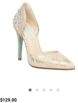 Blue Betsy Johnson Embellished Pointed Glitter Heels Size 6 1/2 New (never used) for Sale in San Jose, CA