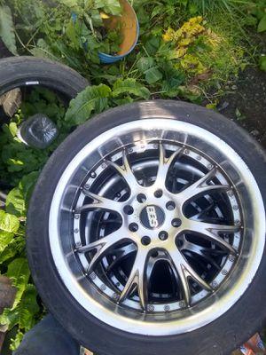 17x7.5 BBS universal 4 lug wheels for Sale in Raymond, WA