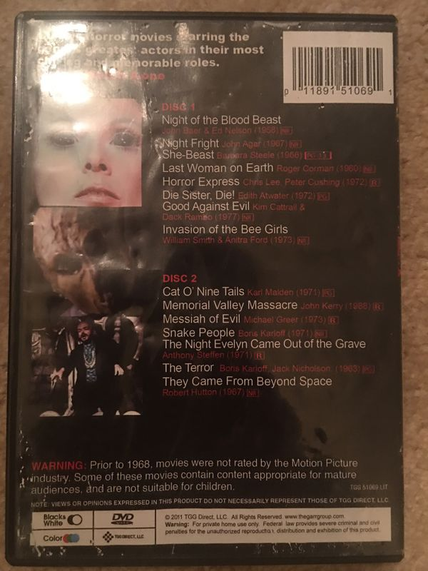 Horror movie dvds set