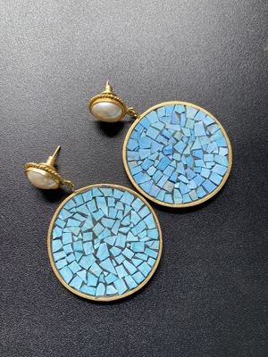 Turquoise earrings for Sale in Lake Villa, IL