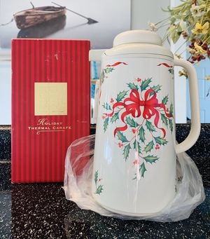Lenox Holiday Thermal Carafe for Sale in Colorado Springs, CO