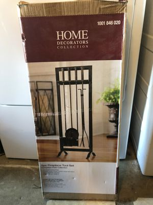 Home Decorators collection 5pc fireplace set for Sale in Chino, CA