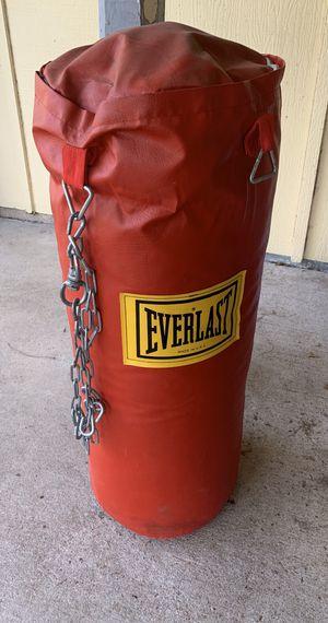 Everlast 70lb punching bag for Sale in Austin, TX