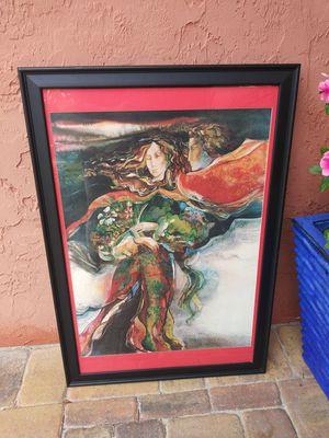 Large Framed Angelic Art Print for Sale in Port Orange, FL