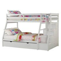 Twin over Full Bunk Bed with Storage Ladder & Trundle for Sale in El Cajon, CA