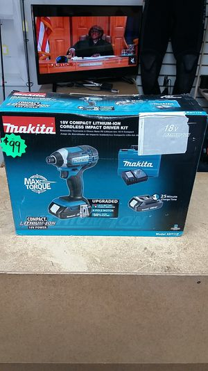 Makita XDT11R 18V Compact Impact Drill Kit BRAND NEW for Sale in Oakland Park, FL