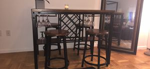 Large dining room table with wine and glass storage for Sale in New York, NY