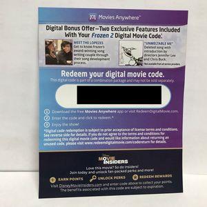 Disney Frozen 2 Digital Movie Redemption Code for Sale in Los Angeles, CA