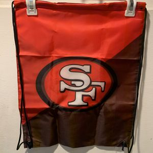 San Francisco 49ers Drawstring Bag Backpack for Sale in Ontario, CA