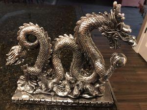 Silver-colored Dragon Statue for Sale in SUPRSTITN Mountain, AZ