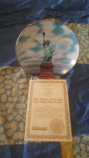 The Statue of liberty : freedom's first lady plate for Sale in Corona, CA