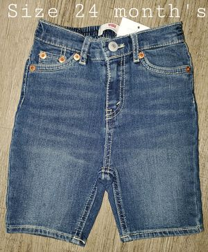 NEW- Boy's Levis Jean Shorts size 24 month's. for Sale in Kent, WA